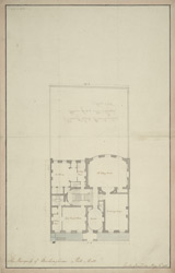 [Plan of Lord Buckingham house from Mr. Soane's]